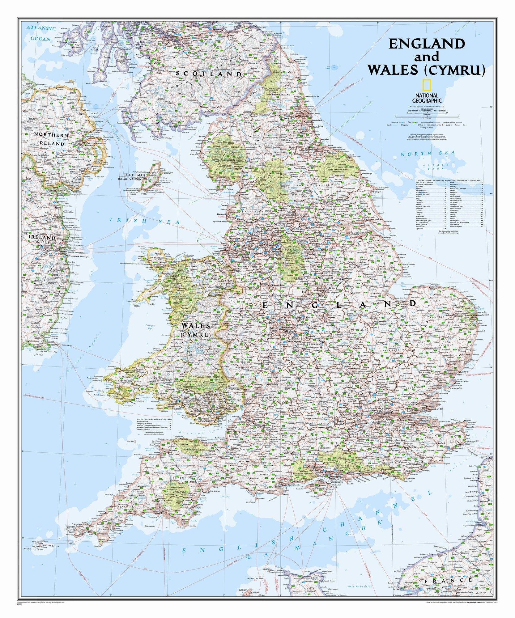 England And Wales Classic Wall Map 36 X 30 Reiseziele Und Reisen
