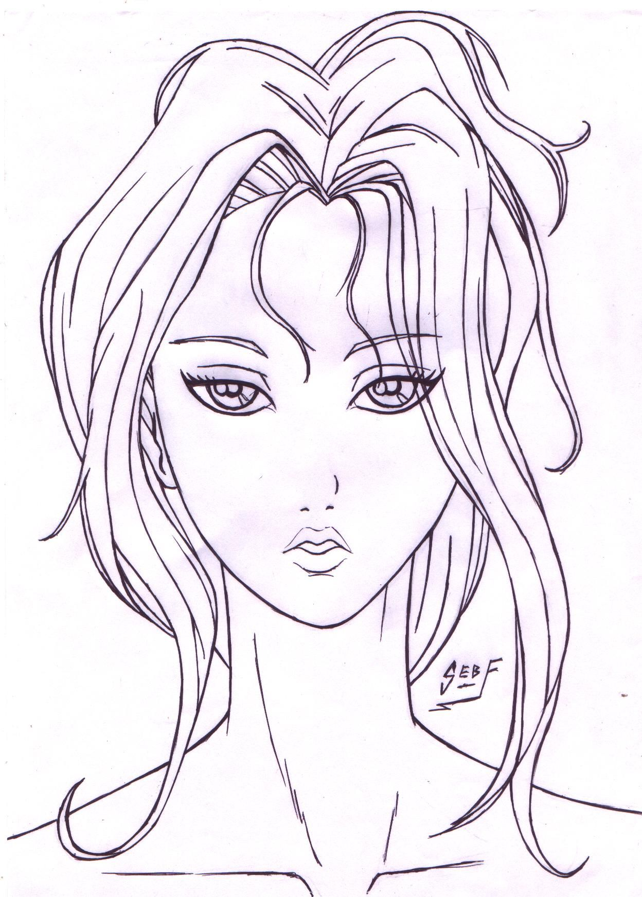 Draw A Girl Face - Google Search | Faces | Pinterest | Drawings Drawing Sketches And Girl Face