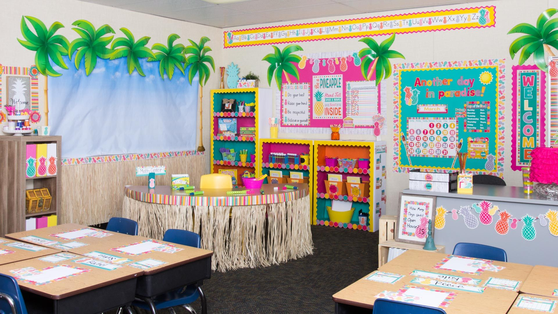Tropical Punch Themed Decorations For Your Classroom