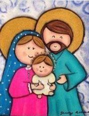 Jesus Jose Y Maria Los Ninos Les Damos El Corazon Para Que Nos Cuiden Con Su Amor Pesebre Navideno Pesebre Arte De Navidad