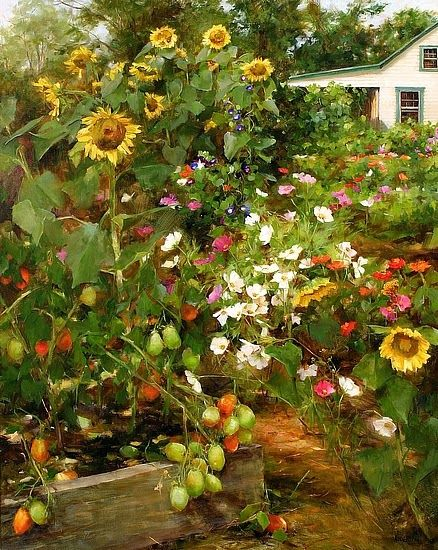 September Garden By Kathy Anderson Ny Based Painter Of