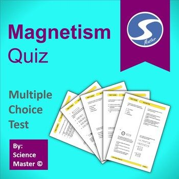 Magnetism Test Prep | Multiple choice and Worksheets