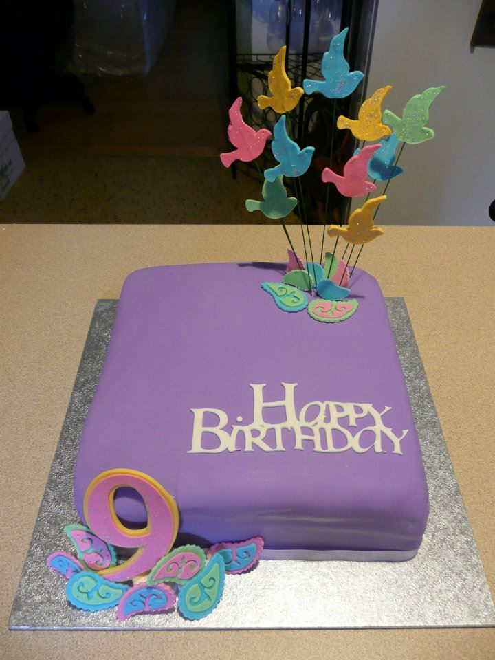 9th Birthday Cake With Images 9th Birthday Cake Birthday Cake