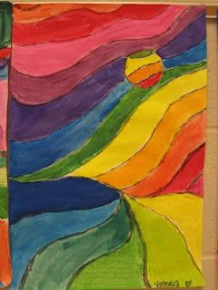 Ultra Cool Landscape Great Way To Teach Color Wheel Order Art