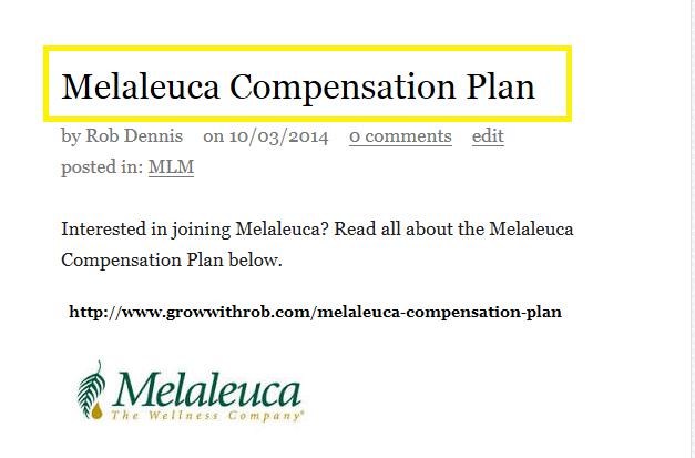 Melaleuca Compensation Plan Melaleuca Compensation Plan