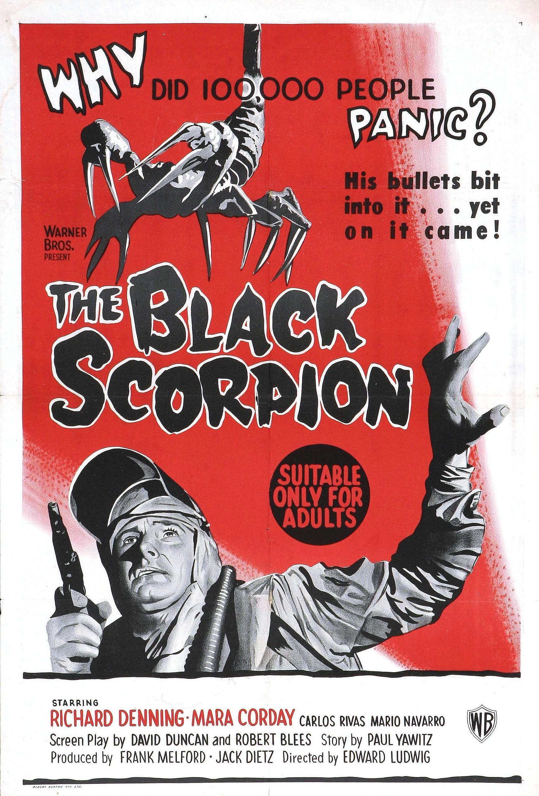 Risultati immagini per THE BLACK SCORPION ( 1957 ) POSTER