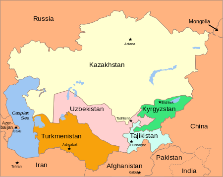 Central Asia Maps & Geography