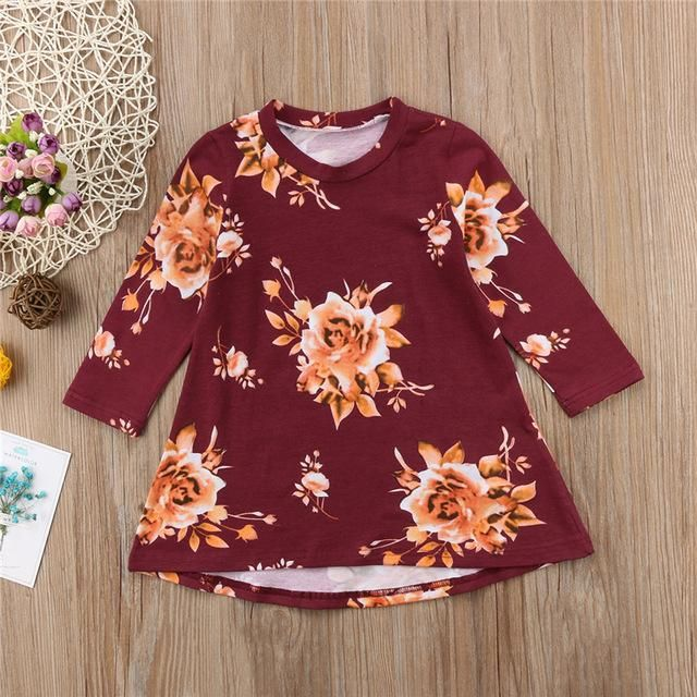Baby Girl Princess Dress Spring Autumn Children Dress For Girls Bebes Fashion Floral Party Dresses #babygirlpartydresses