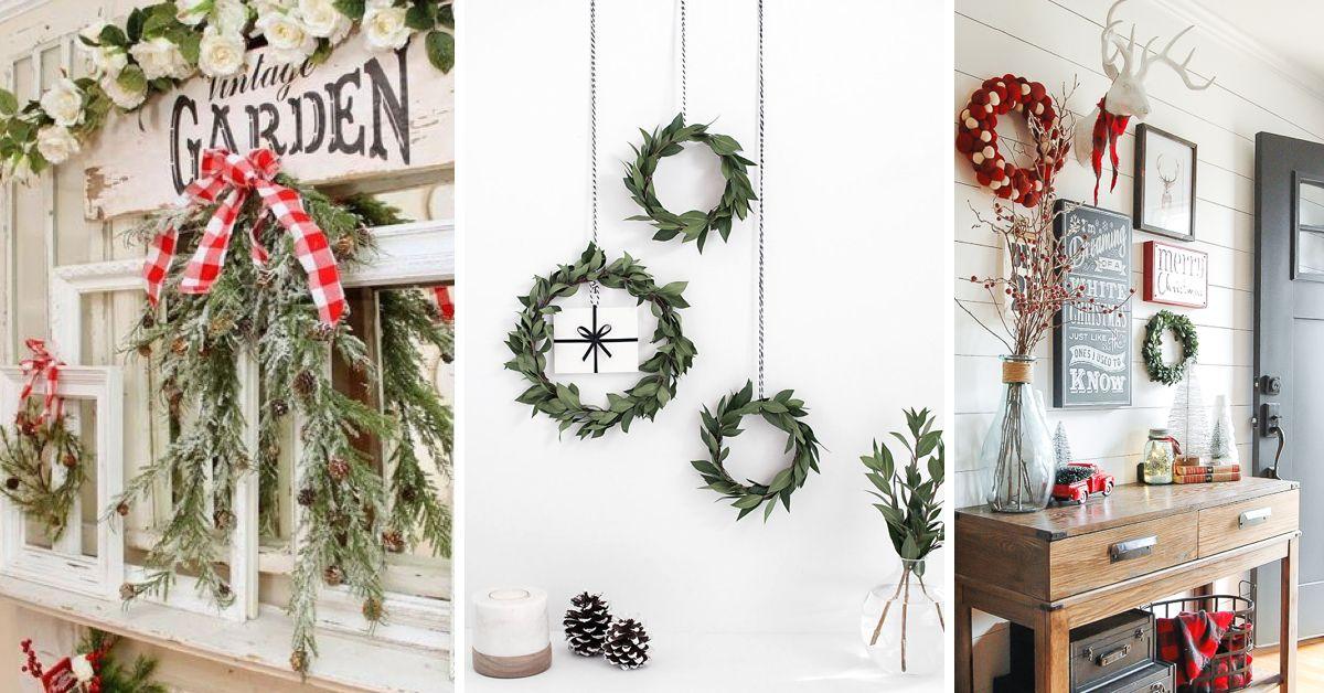30 Diy Christmas Wall Decor Ideas Adding Holiday Cheers To Your Home S Walls Diy Christmas Wall Christmas Wall Decor Diy Christmas Wall Decor