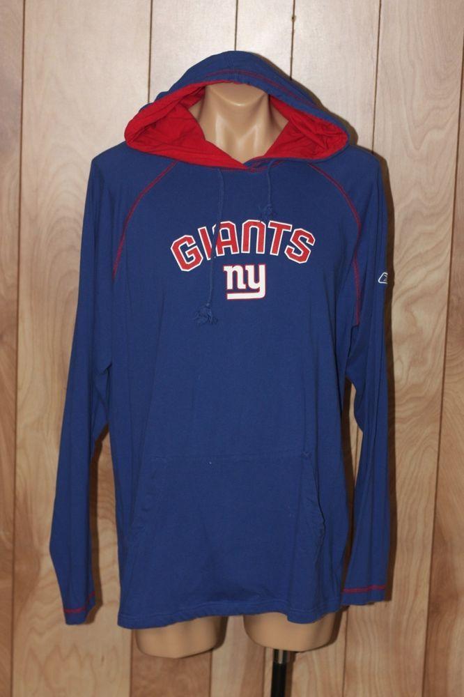 brand new 40588 65716 MEN'S NEW YORK GIANTS HOODED SWEATSHIRT-SIZE: XL ...