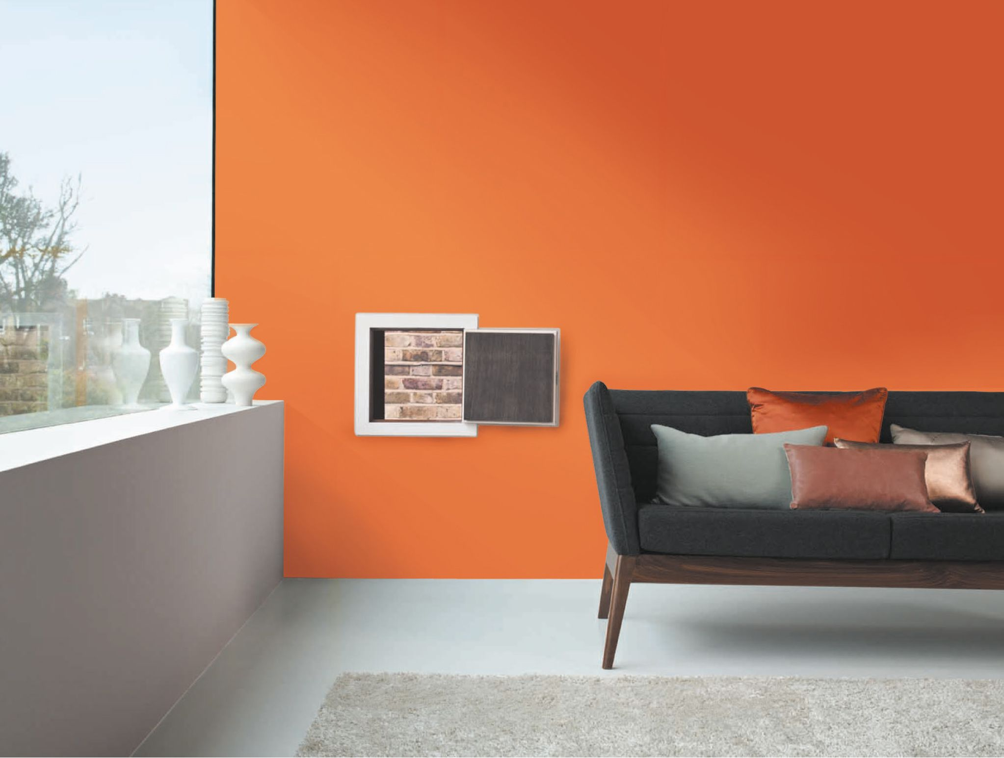 Couleur de l 39 ann e 2015 dulux valentine l 39 orange confite for Idee deco grand mur salon