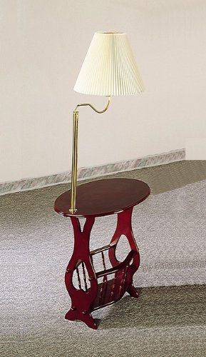 37 Off Was 99 99 Now Is 62 98 Cherry Finish Swing Arm Brass Lamp Magazine Table Lamp Brass Lamp Table Lamps For Bedroom