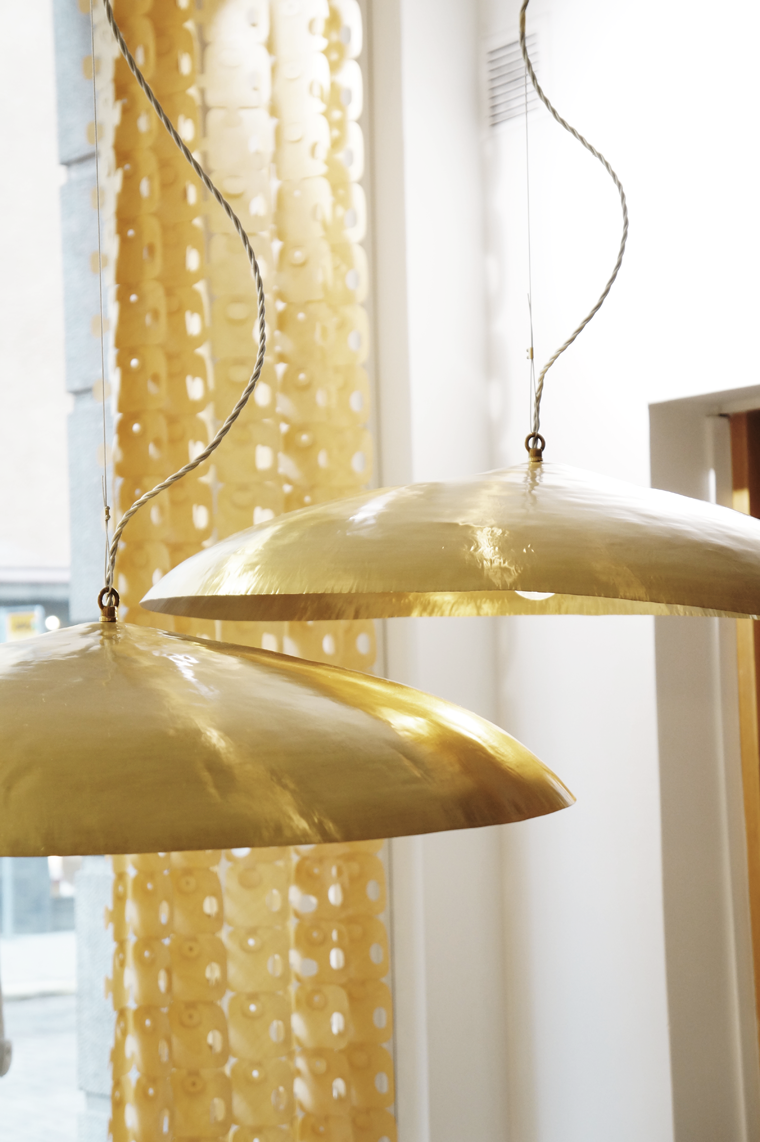 The spectacular Brass lamps are back in showroom again casuarina
