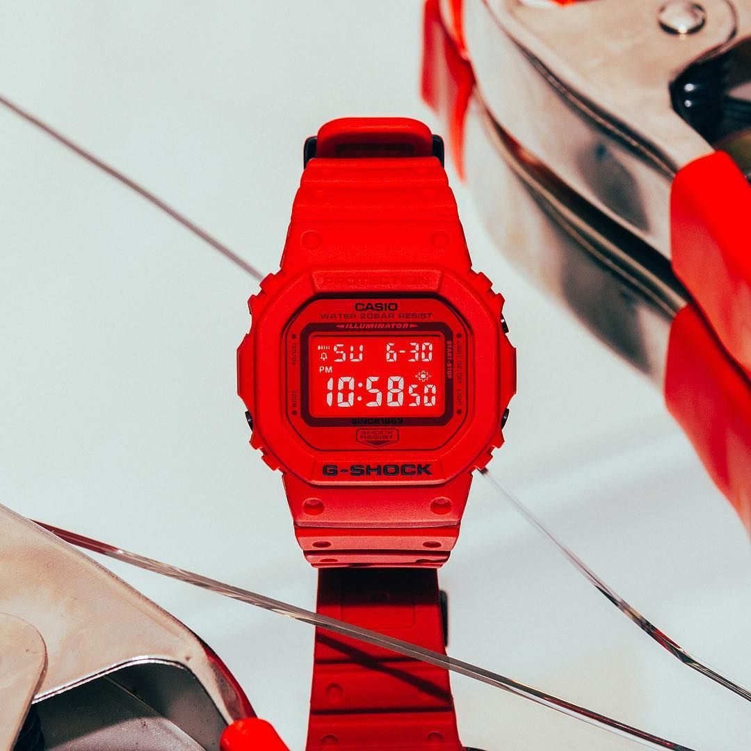 Live Photos G Shock Dw 5635c 4 From Red Out Collection G Shock