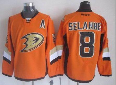 cheap for discount 45a8e accd3 anaheim ducks 8 teemu selanne 2014 stadium series orange jersey