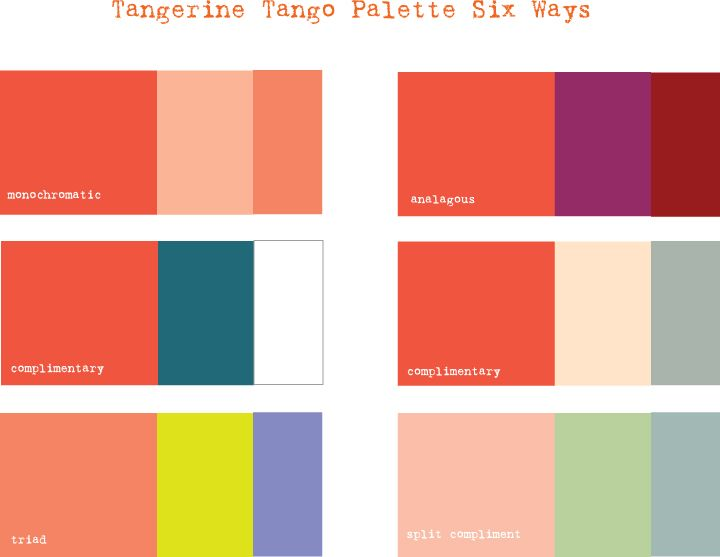 Colors That Go With 2012 Color Of The Year Tangerine Tangerine Wedding Tango