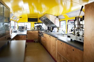 Inside Double Decker Catering Bus: Hello everybody ...