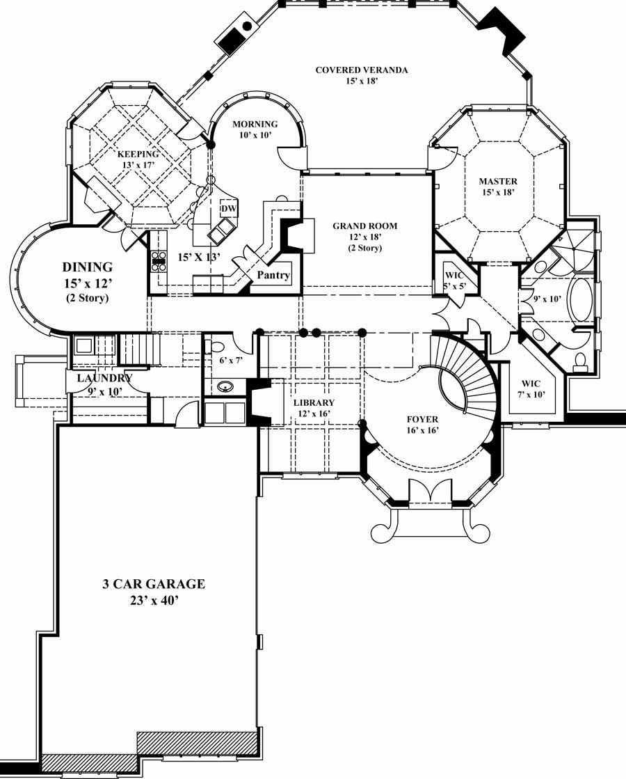 courtyard floor plans | First Floor Plan image of Hennessey ... on
