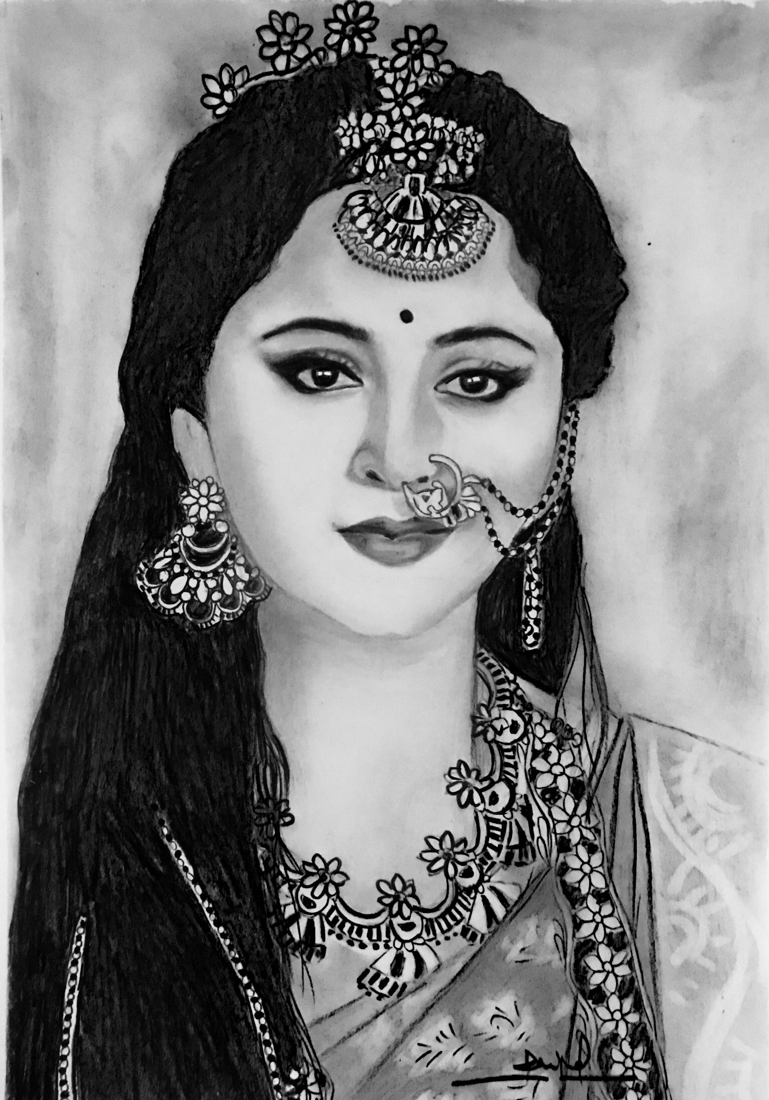Anushka Shetty Pencil Drawing