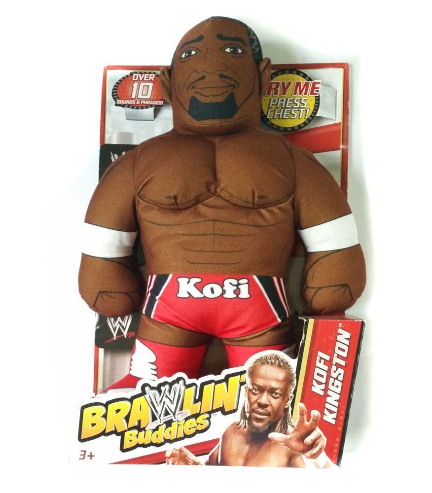 NEW Kofi Kingston WWE Brawlin' Buddies 16 INCH Talking Plush Wrestling Plush Toy…