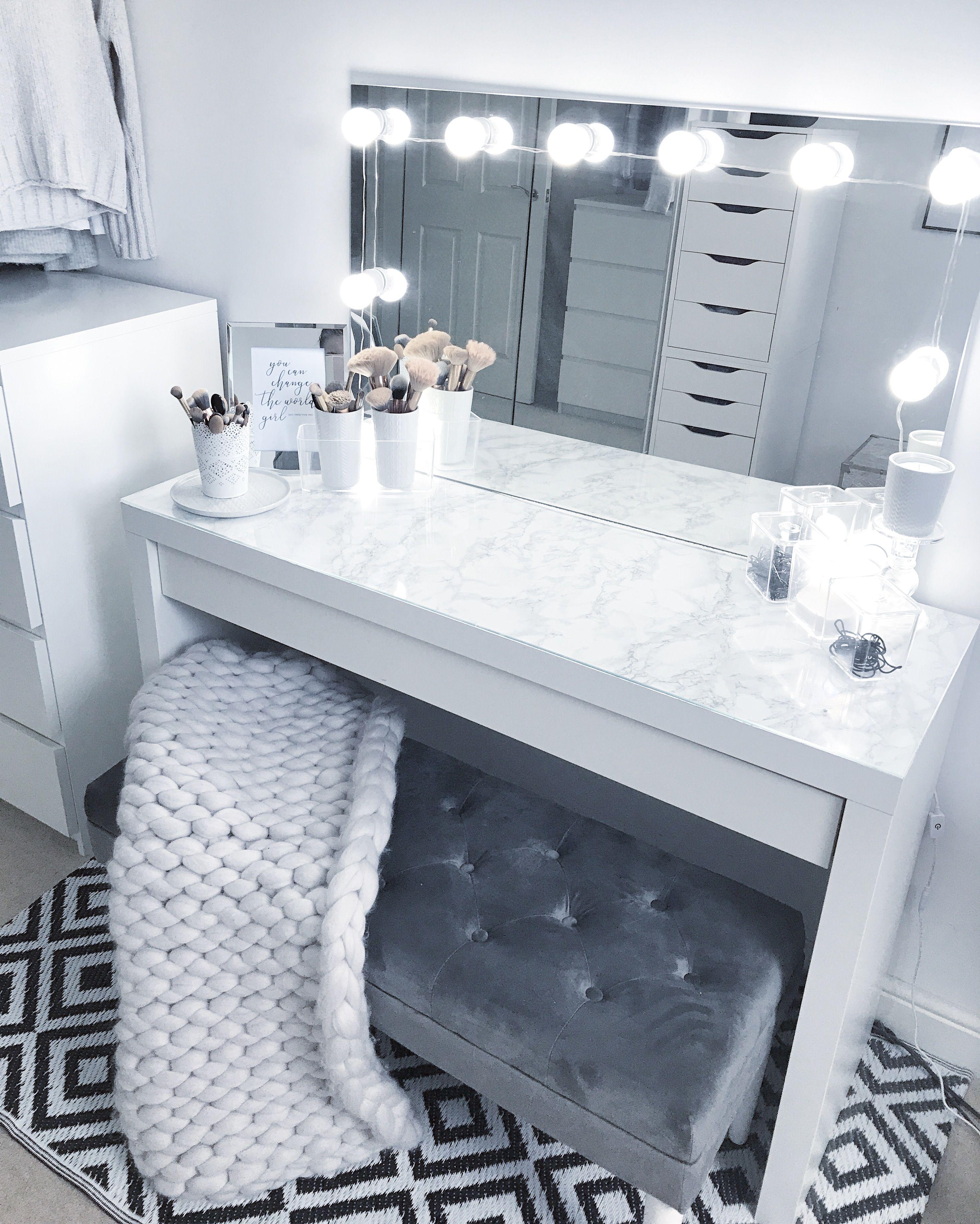 Grey Dressing Room Make Up Room Goals Stylish Bedroom Vanity Room Beauty Room
