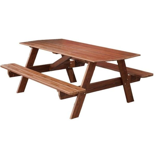 Amish 6' Picnic Table ($384) ❤ liked on Polyvore featuring home, outdoors, patio furniture, outdoor tables, outdoor, picnic, outdoor garden table, outdoor table, outdoor patio table and outdoor picnic tables