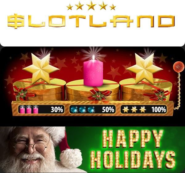 Slotland casino newsletter bonus codes. Xmas week bonuses