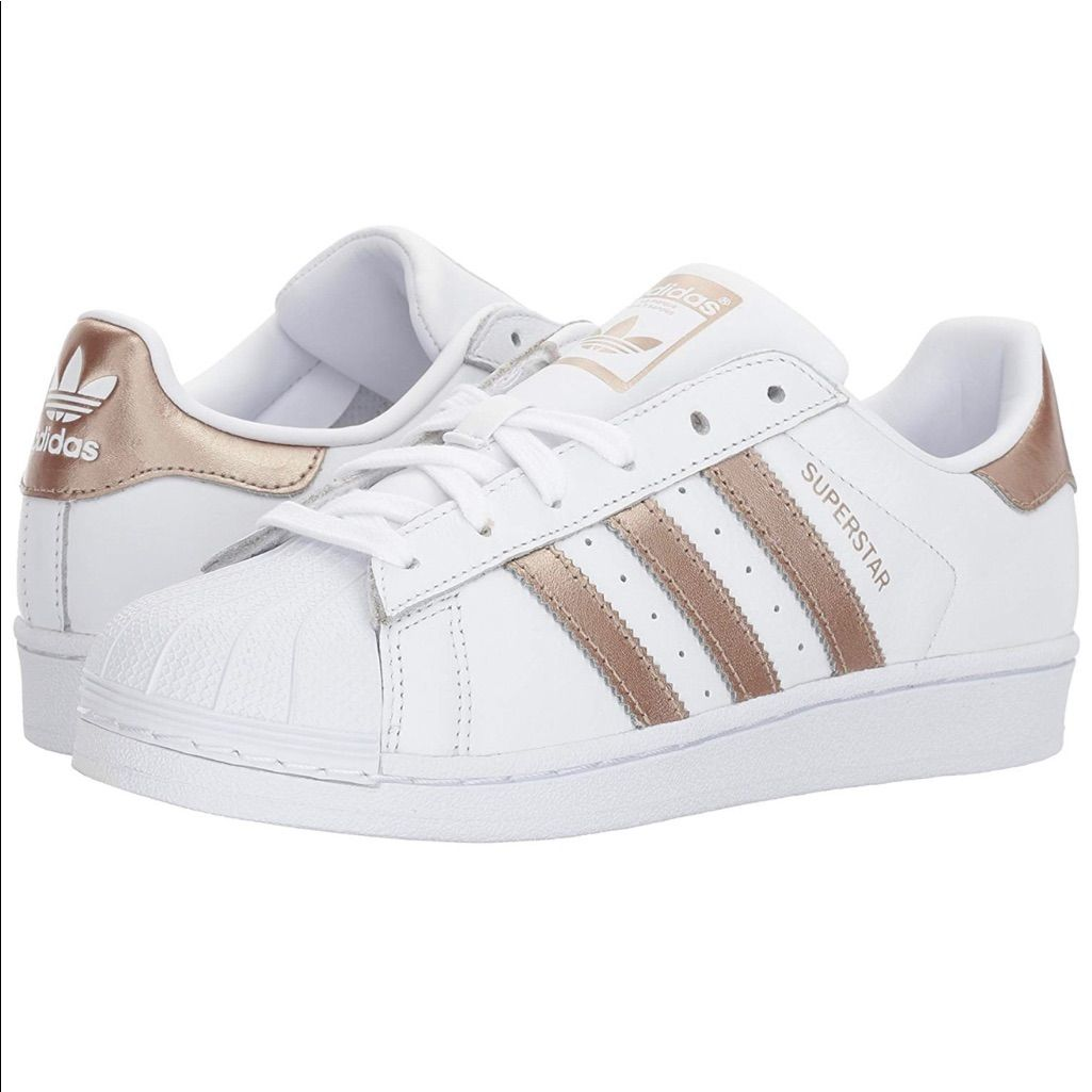 NWT Adidas Superstars with Rose Gold