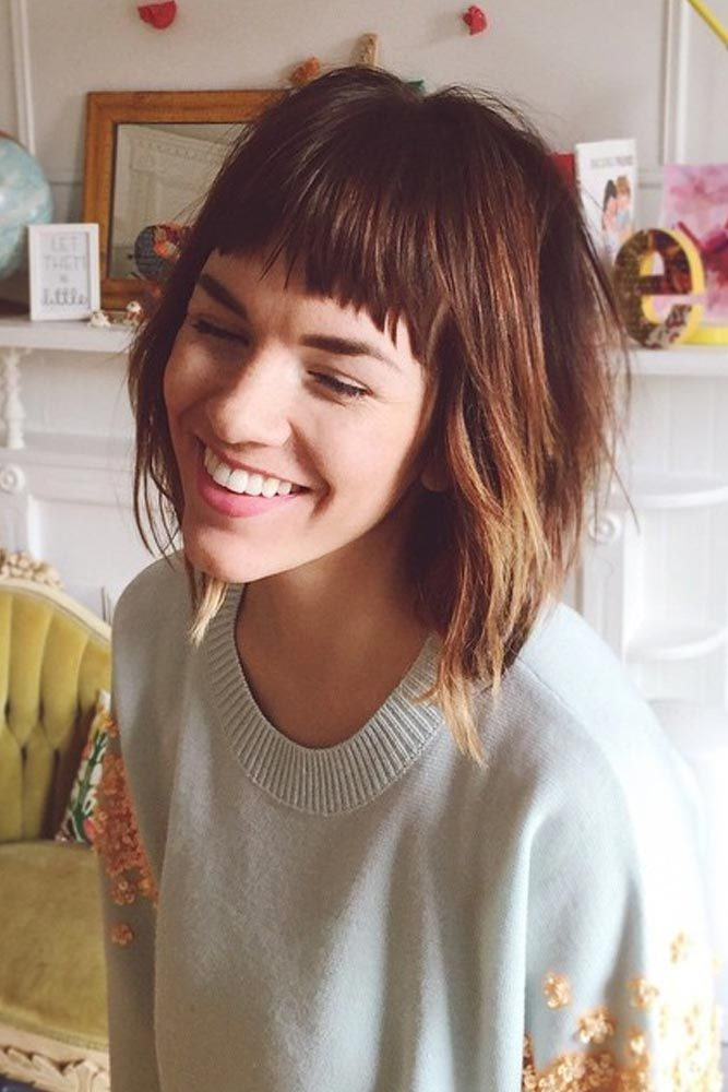 36 Modern Medium Hairstyles With Bangs For A New Look Medium