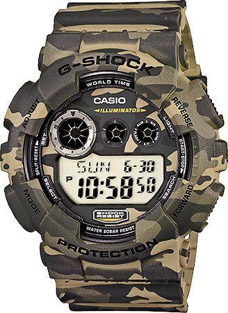 ec9a2b02f387 G-Shock GD120CM-5 Woodland Camo Digital Watch