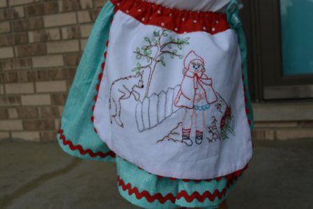 embroidery for little red ridinghood dress
