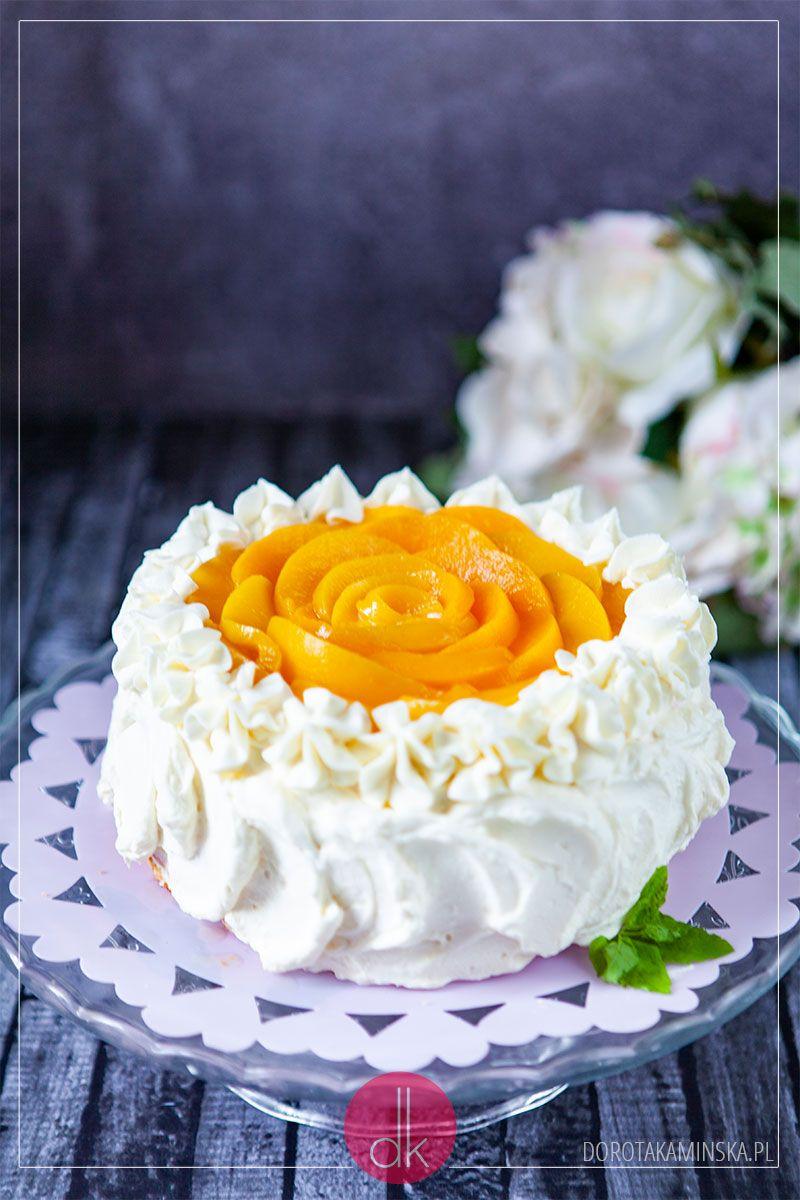 Tort Z Brzoskwiniami Przepis Dorota Kaminska Recipe Desserts Cake Desserts Cake