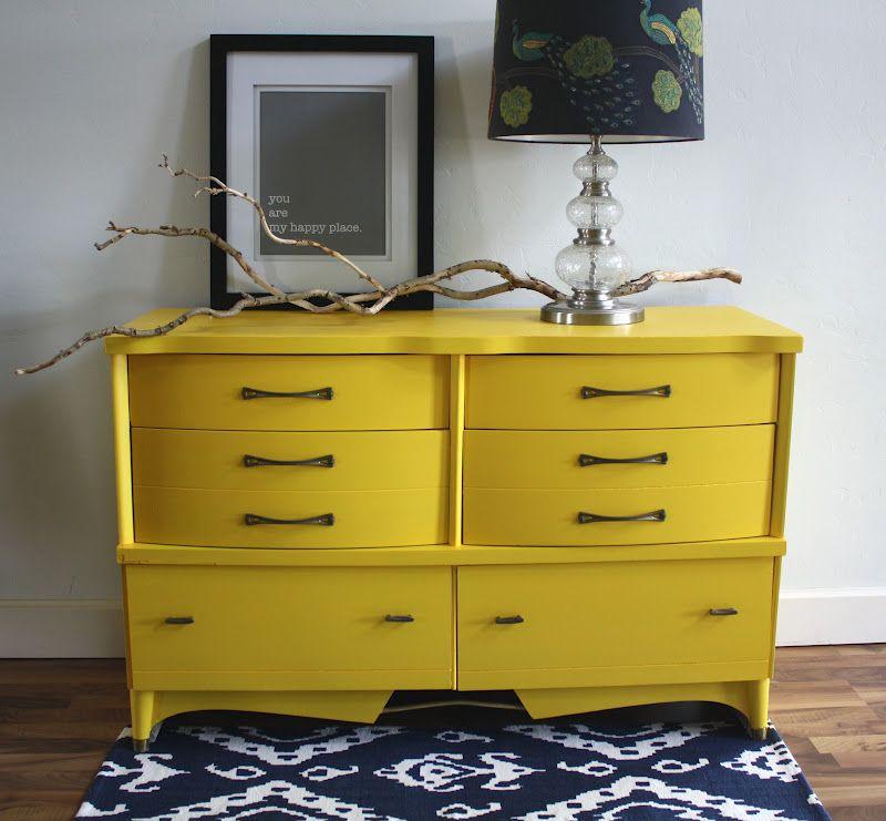 Best The Turquoise Iris Mid Century Dresser In Sunshine Yellow 400 x 300