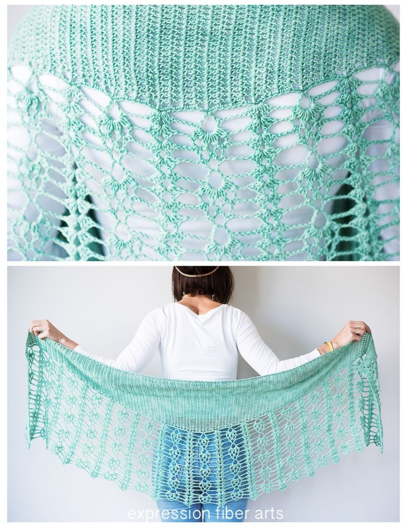 Pistachio Falls Cascading Crescent Crochet Shawl Pattern | Pinterest ...