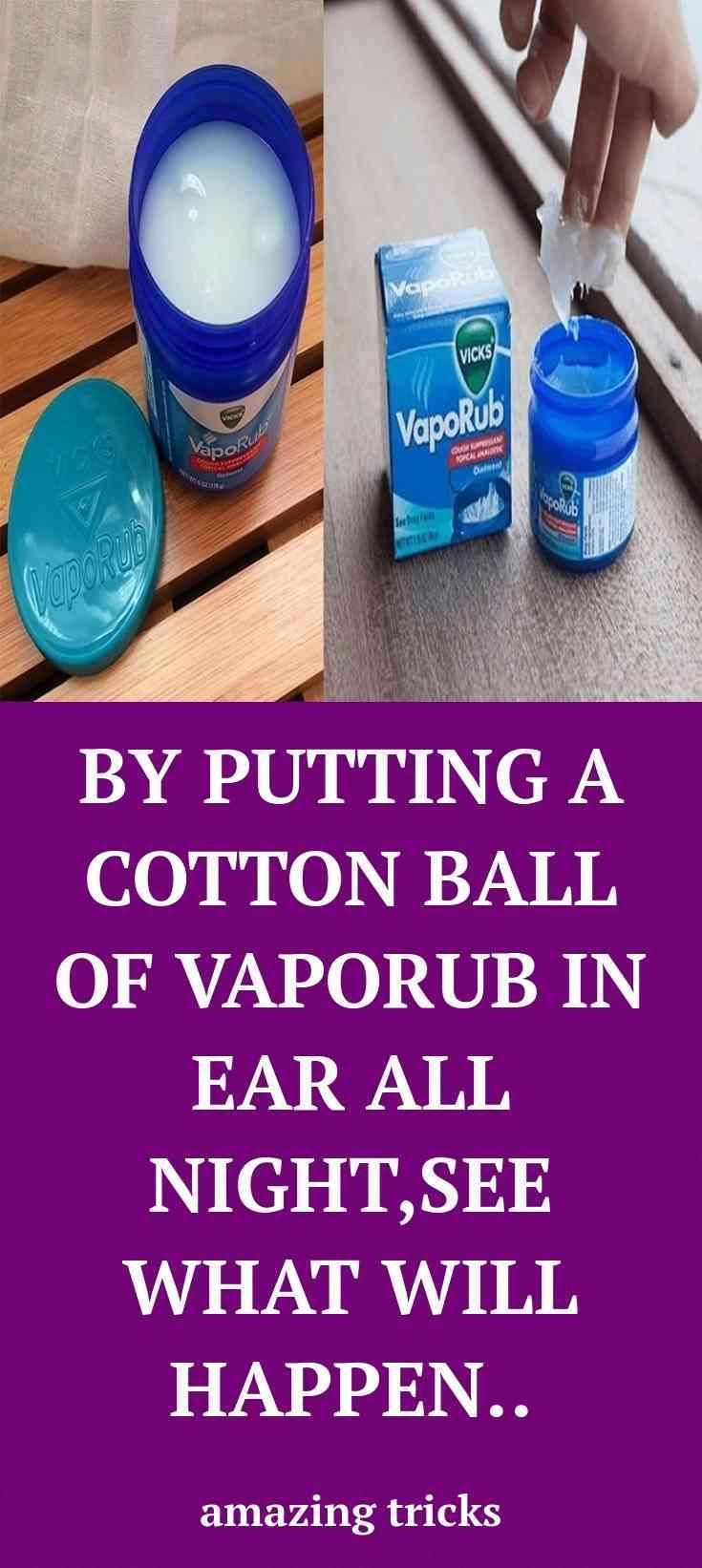 boom. Head to the webpage to see more about Vaporub in your ear Magic.  A. #fitness