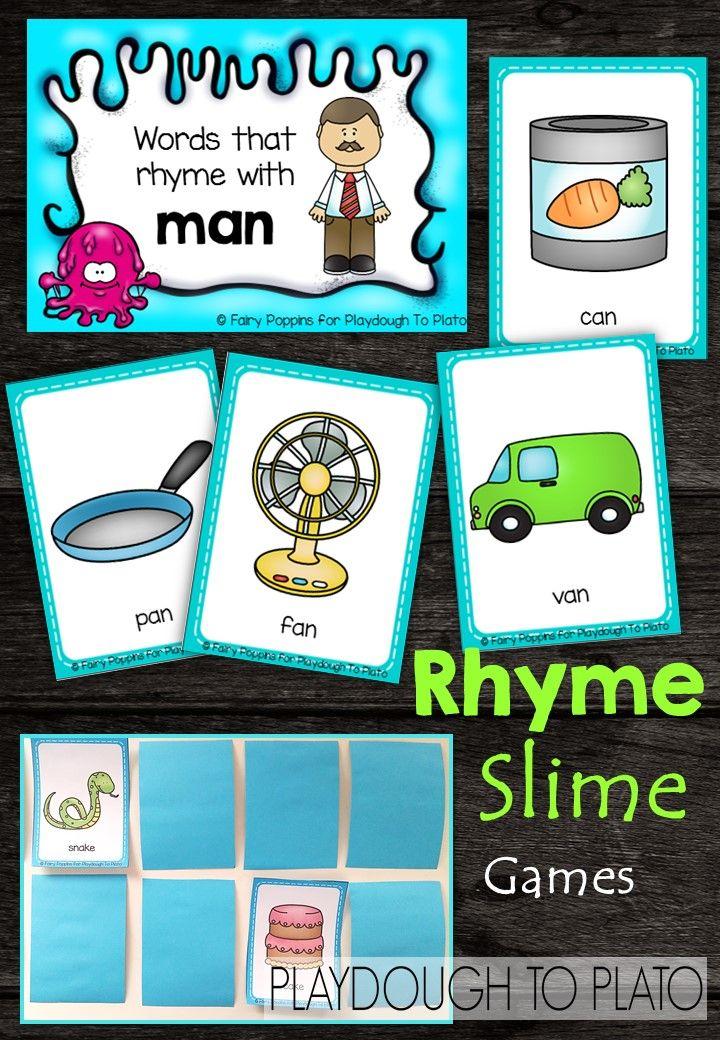 Rhyme Slime Games | Word work | Pinterest | Bewusstsein, Alphabet ...