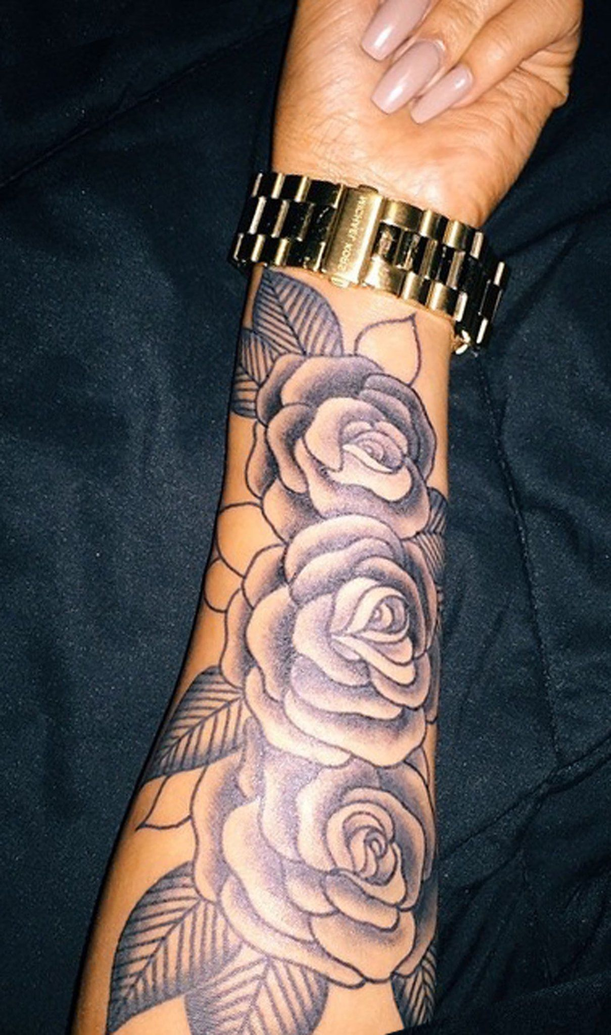 Realistic Vintage Rose Forearm Tattoo Ideas For Women Black Floral Flower Arm Sle Forearm Tattoo Women Tattoos For Women Half Sleeve Unique Tattoos For Women