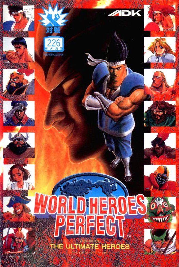 World Heroes Perfect Arcade Flyer Adk Snk Lutador De Rua Jogos Antigos Jogos