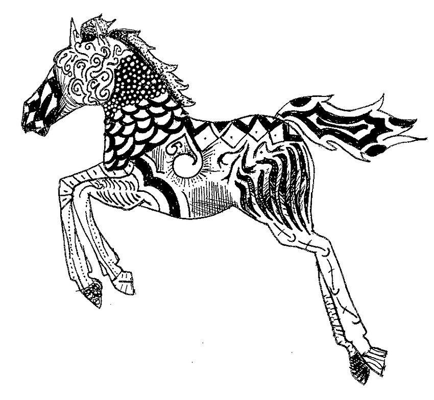 Pingl par g orgina kincaid sur coloriages chevaux et - Coloriage cheveaux ...