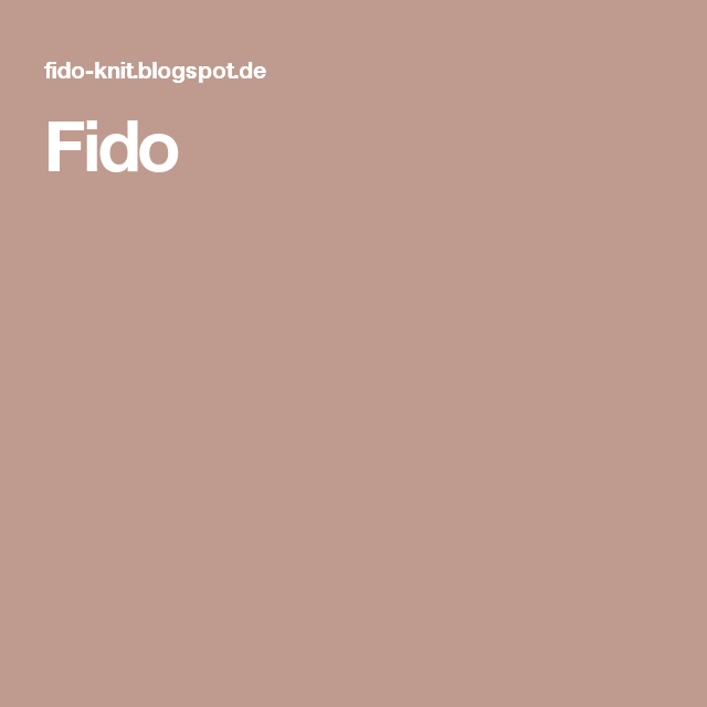 Photo of Fido