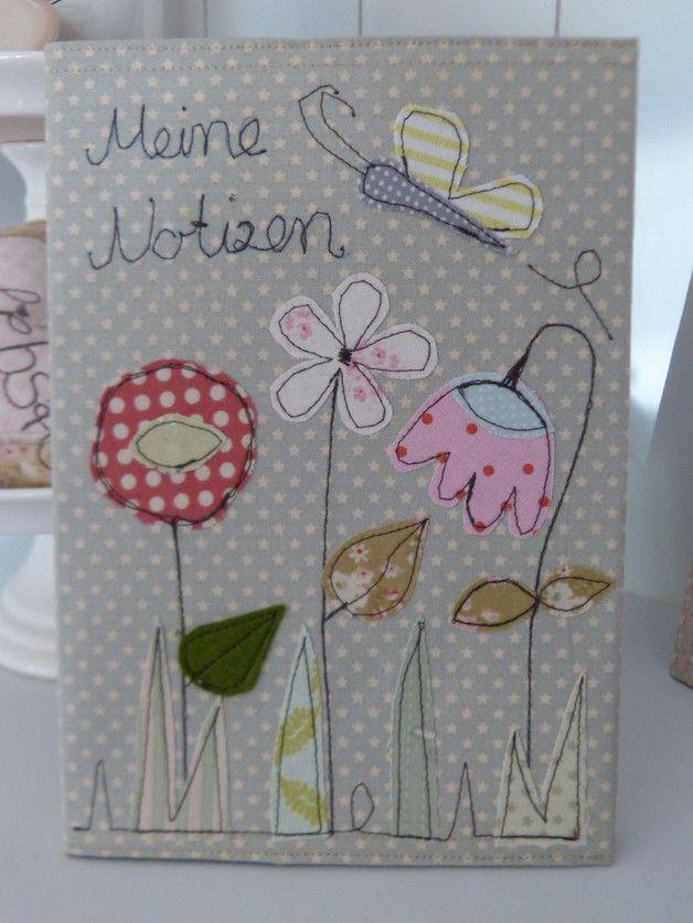 """DIN A4 - ♥Schönes Notizbuch♥ """"Blumenwiese"""" - ein Designerstück von julis-fairy-tale bei DaWanda"""