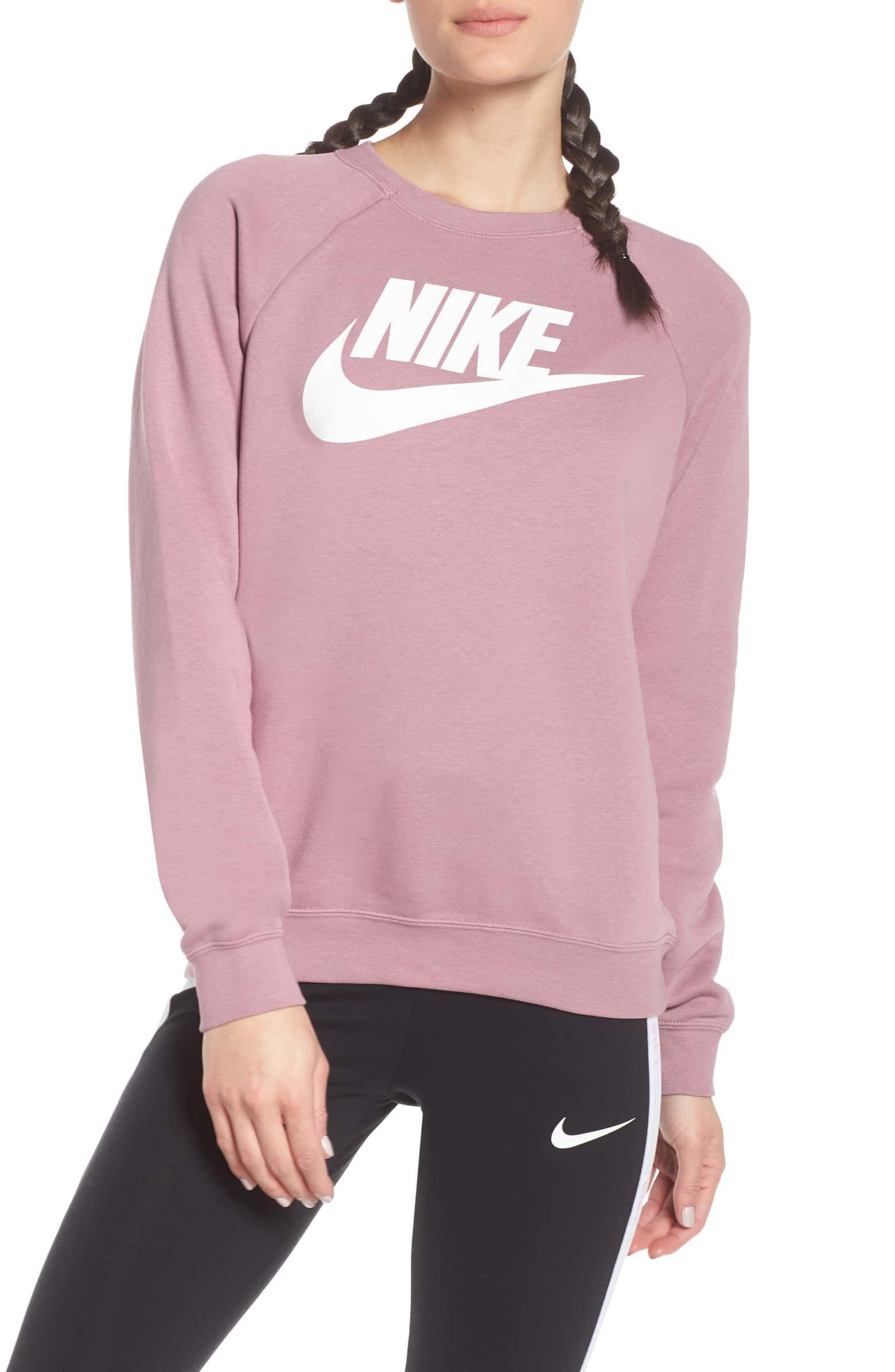 Nike Nsw Rally Sweatshirt Nordstrom High Fashion Street Style Summer Fashion Outfits Casual Sweatshirts [ 2392 x 1560 Pixel ]