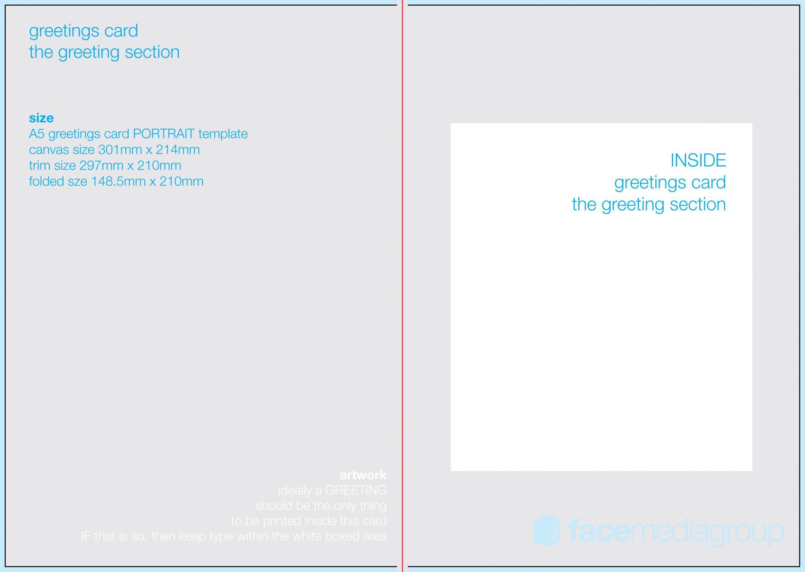 4 Blank Greeting Card Template Microsoft Word En 2020 Cnv