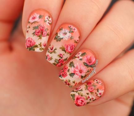 Nail Art Tutorial: Realistic Hand Painted Flowers - NAIL IT! - Nail Art Tutorial: Realistic Hand Painted Flowers - NAIL IT