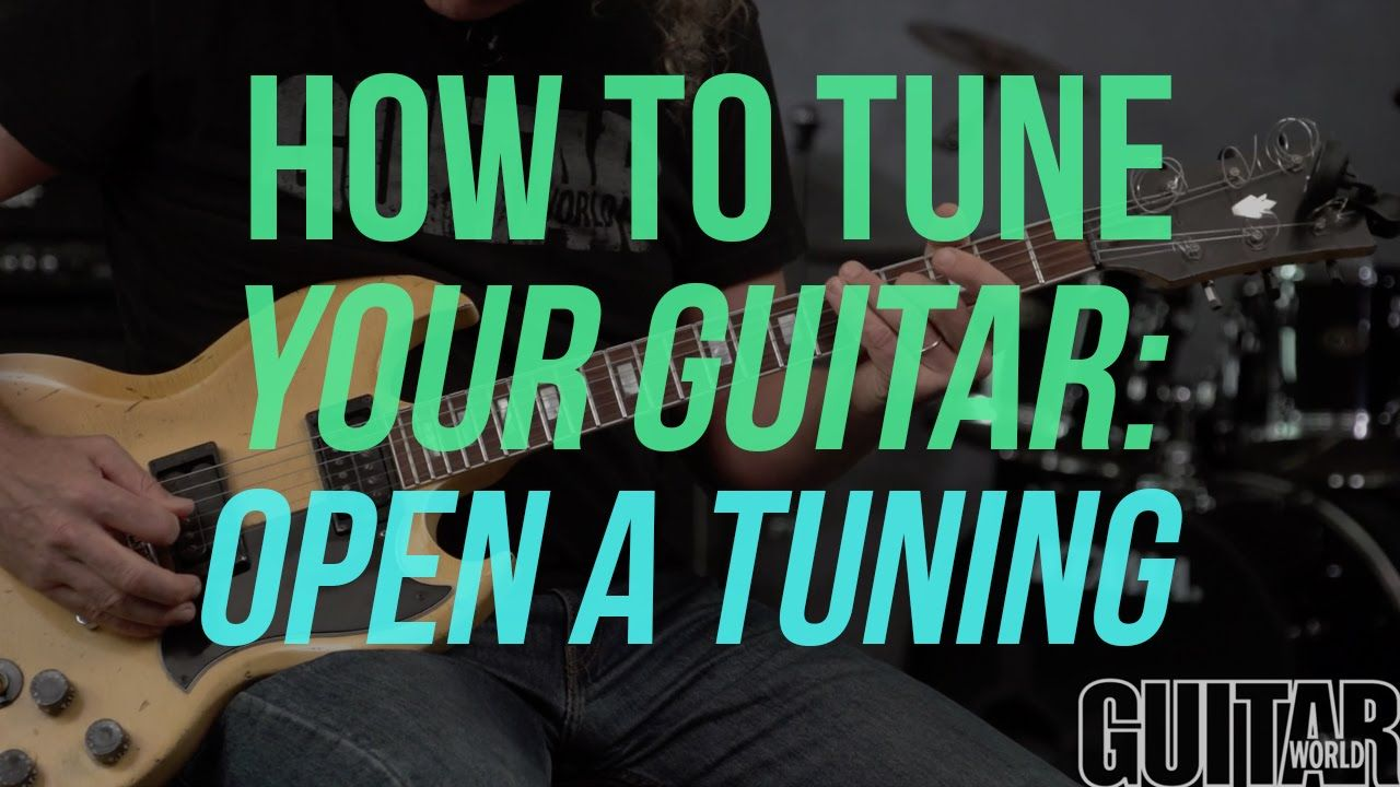 How To Tune Your Guitar To Open A Tuning Guitar Basics Learn Guitar Acoustic Guitar Lessons Guitar Chords Beginner