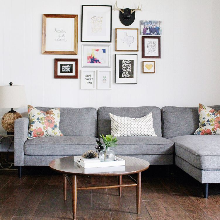 Cosmos Grey 2 Piece Sectional With Right Arm Facing Chaise In 2020 First Apartment Decorating Small Apartment Decorating Apartment Living Room