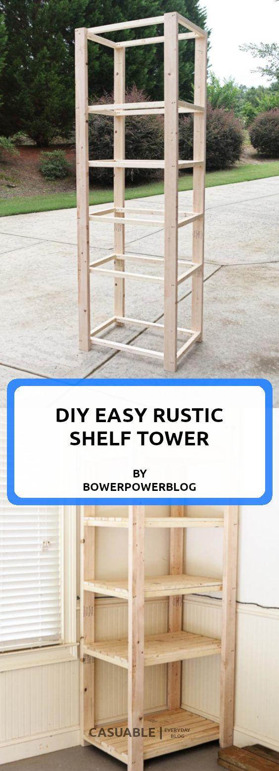 20 Super Easy Rustic DIY Shelves To Add Storage Space - Tutorials ...