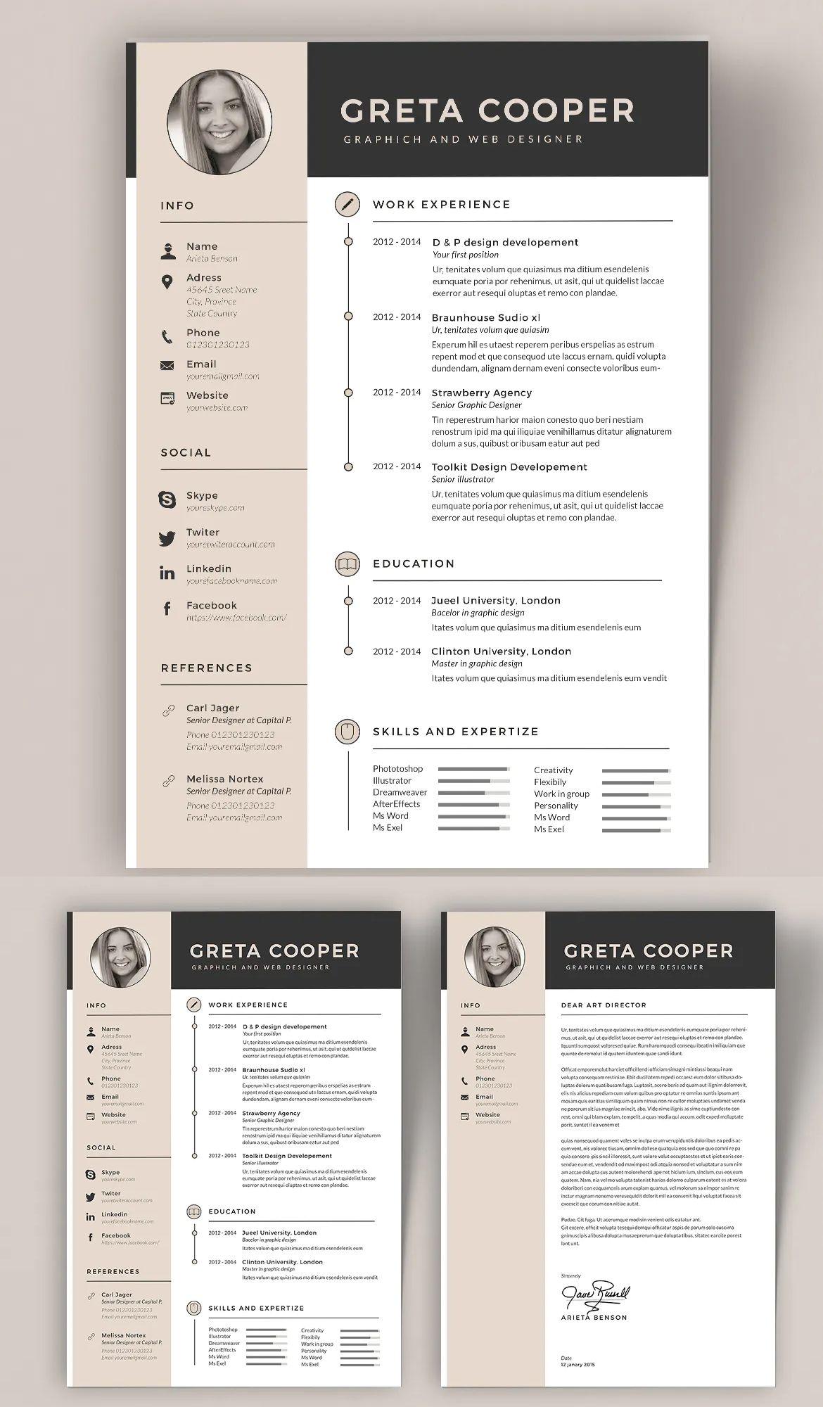 Clean cv resume ii by sz81 on cv resume template resume