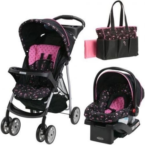 Carseat Stroller Combo Girl Baby Travel System Pram Carrier Car