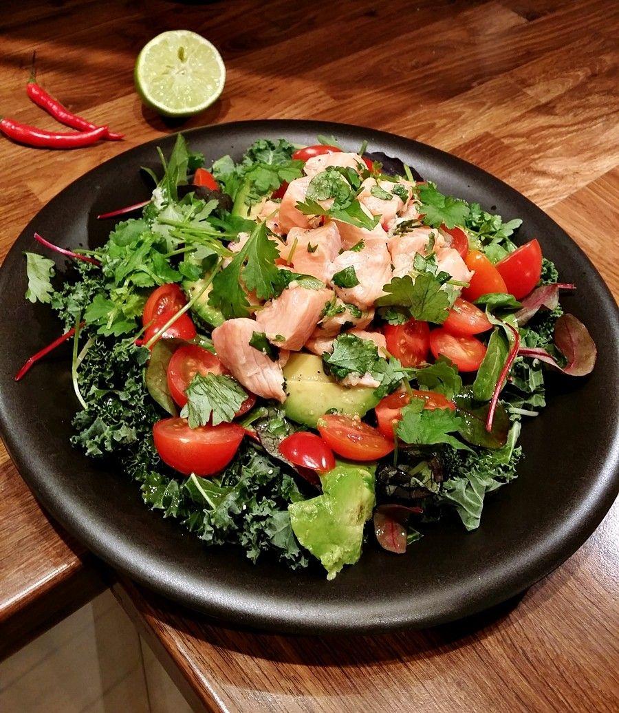 lohiceviche, salaatti, resepti - White Trash Disease | Lily.fi